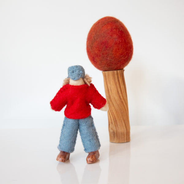 Felt Doll With Red Shirt