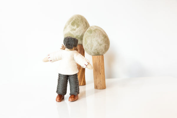 Felt Doll with White Shirt