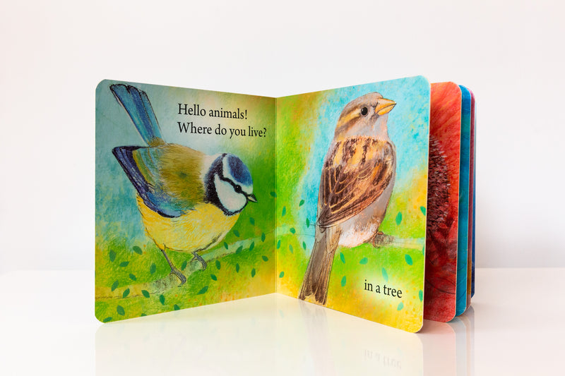 Hello Animals, Where Do You Live? Board Book