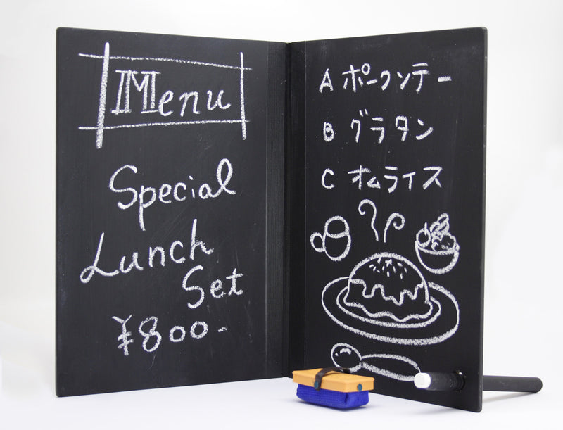 Notebook Style Chalkboard with Chalk + Eraser
