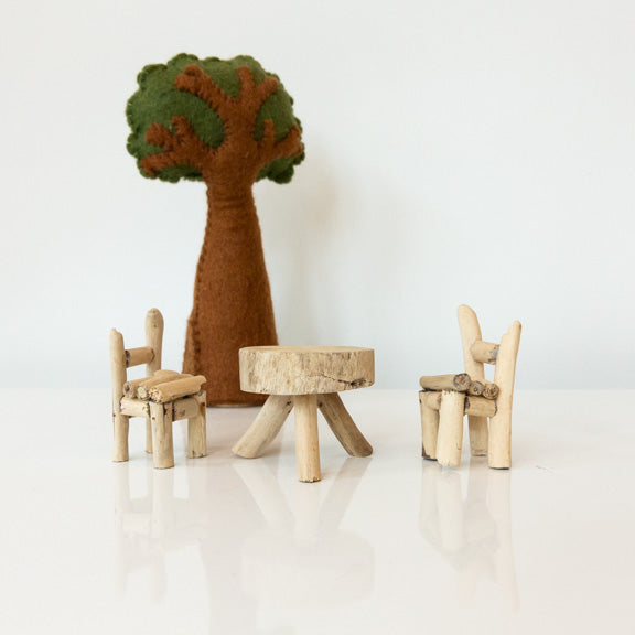 Woodland Table + Chairs