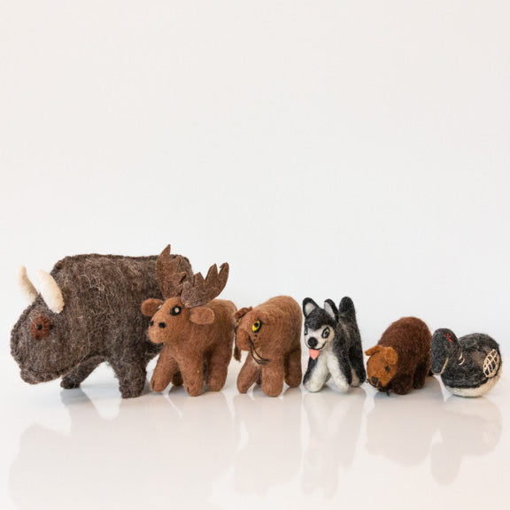 Felt Canadian Animal Set
