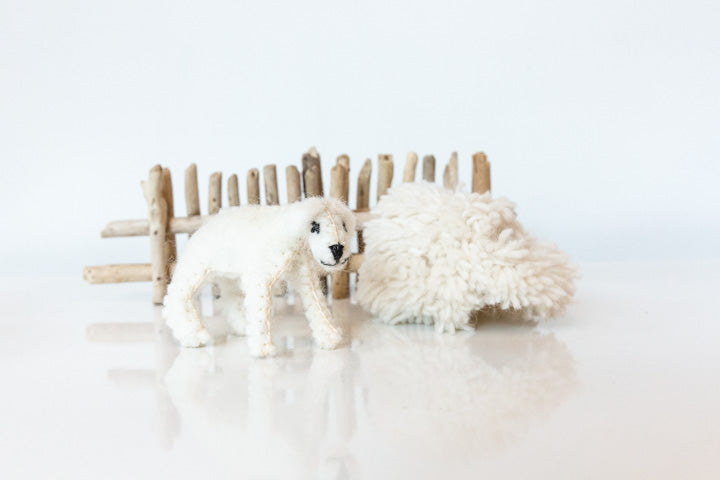 Felted Sheep with Removable Coat