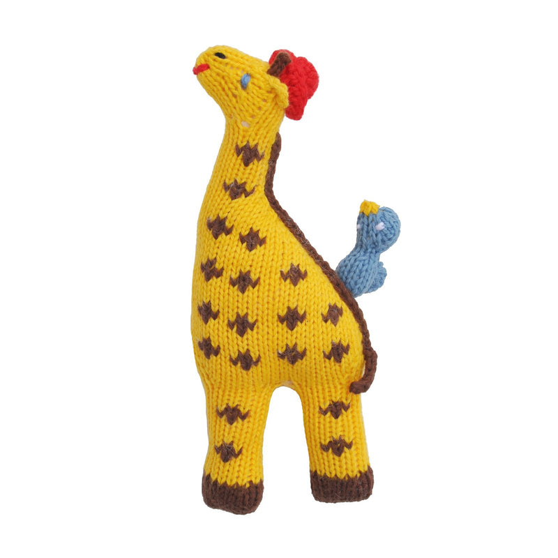 Giraffe and Bird Rattle