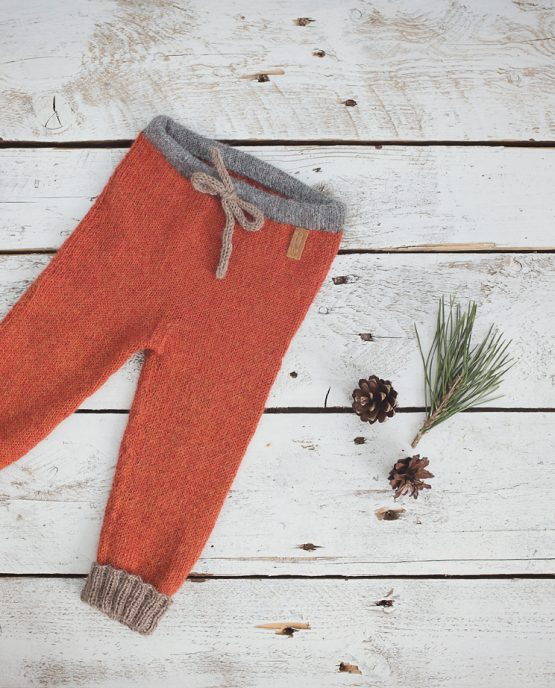 Alpaca Wool Rust Leggings