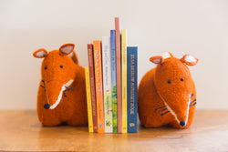 Felted Fox Book Ends