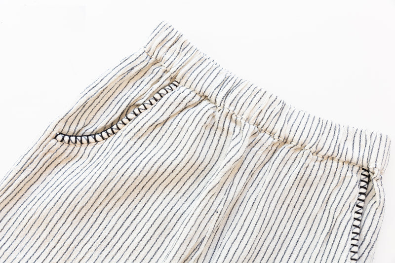 Natural Stripped Trousers