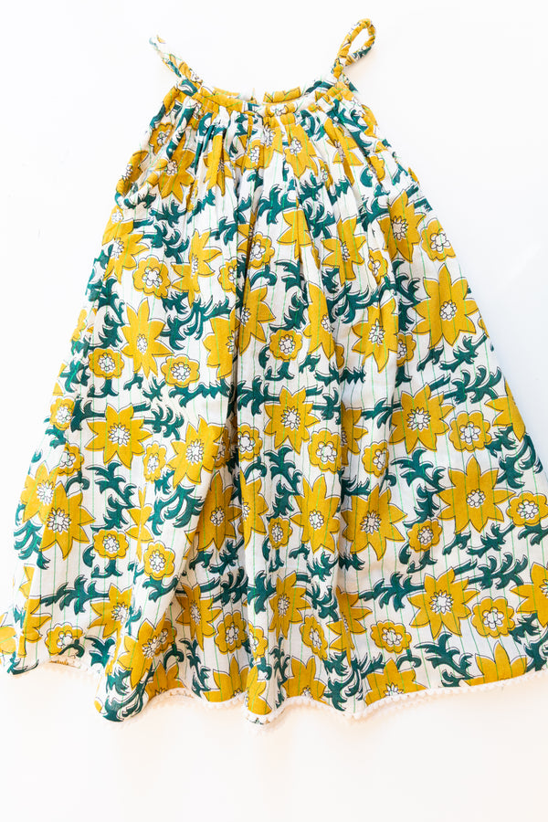 Yellow Sun Flower Dress
