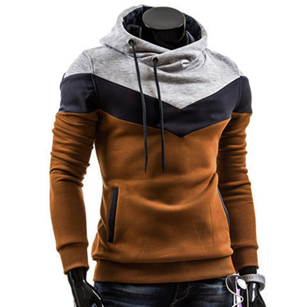 Men Long Sleeve Hooded Sweatshirt
