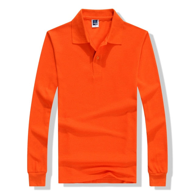 Polo Shirts Men Long Sleeve