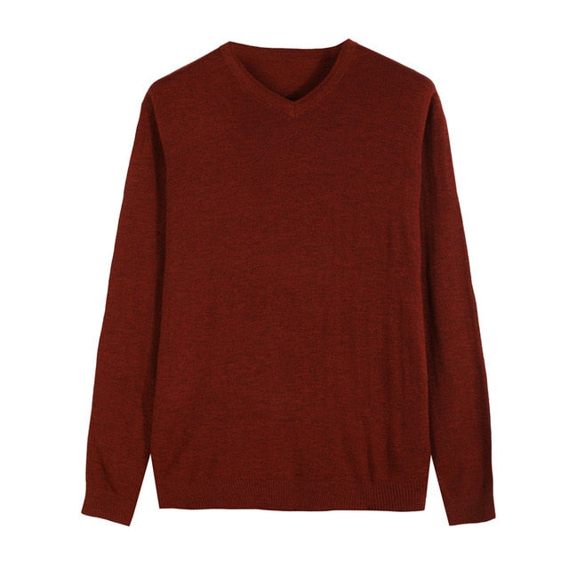 Knitted Pullover Men Cashmere