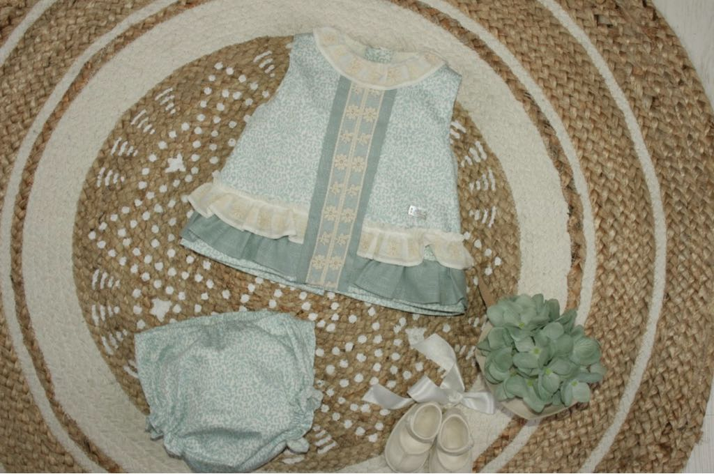 85cd674d8 Baby dress with diaper cover Cuarzo Collection – Minuni Children's ...