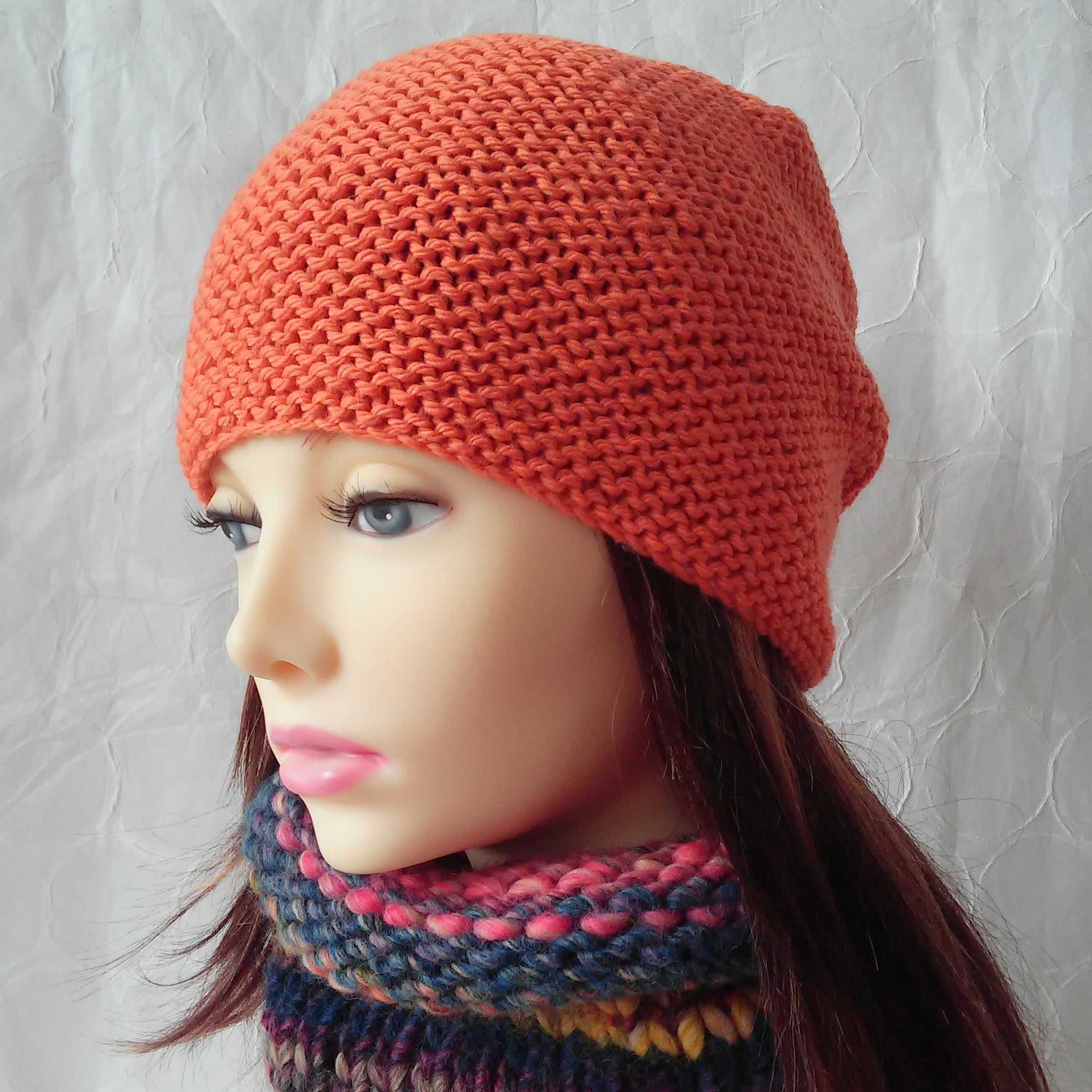 Beanie Knitting Pattern Slouchy Knit Hat Easy Winter Wool Toque Knit