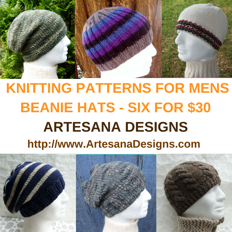 6 Mens Hat Patterns For 30 Knitting Patterns For Mens Beanie Hats