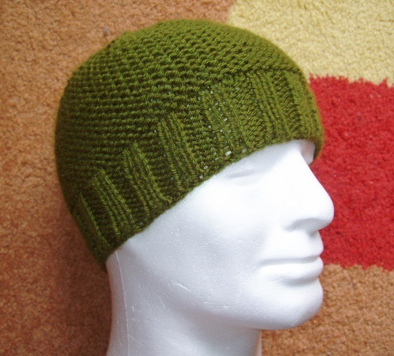 Easy Beanie Pattern Mens Knitting Pattern Skullcap Beginners Hat