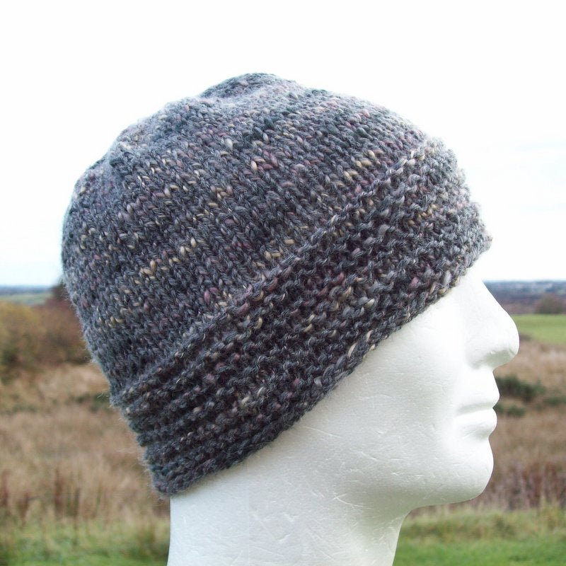Mens Winter Hat Knitting Pattern Simple Beanie Gift For Men Knit