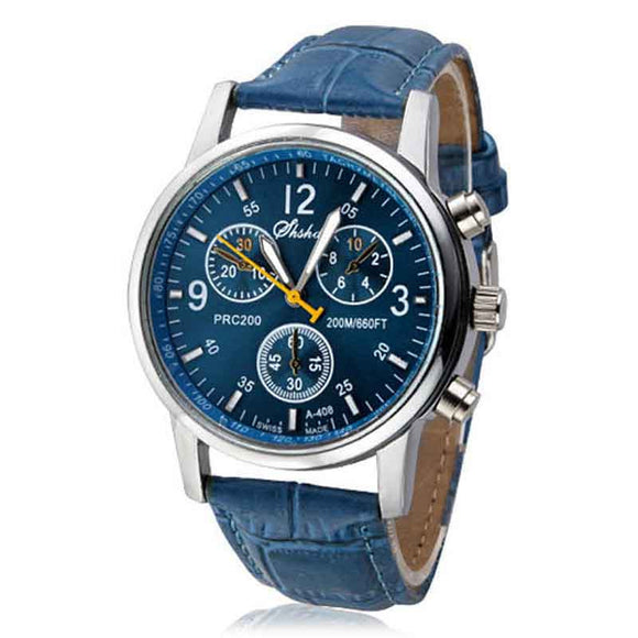 Blue Men's Wristwatch