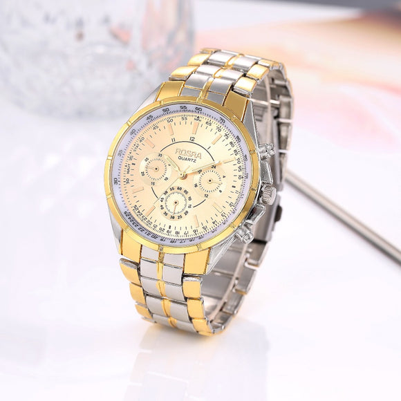 Luxury Gold Men's Wristwatch