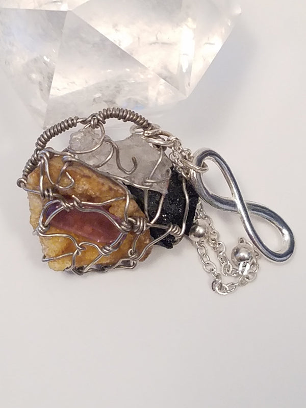 Innovated Visions Jewelry Pendant HEALING WIRE WRAPPED PENDANT #1