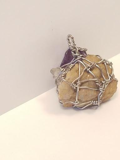 Innovated Visions Jewelry Pendant HEALING WIRE WRAPPED PENDANT #3