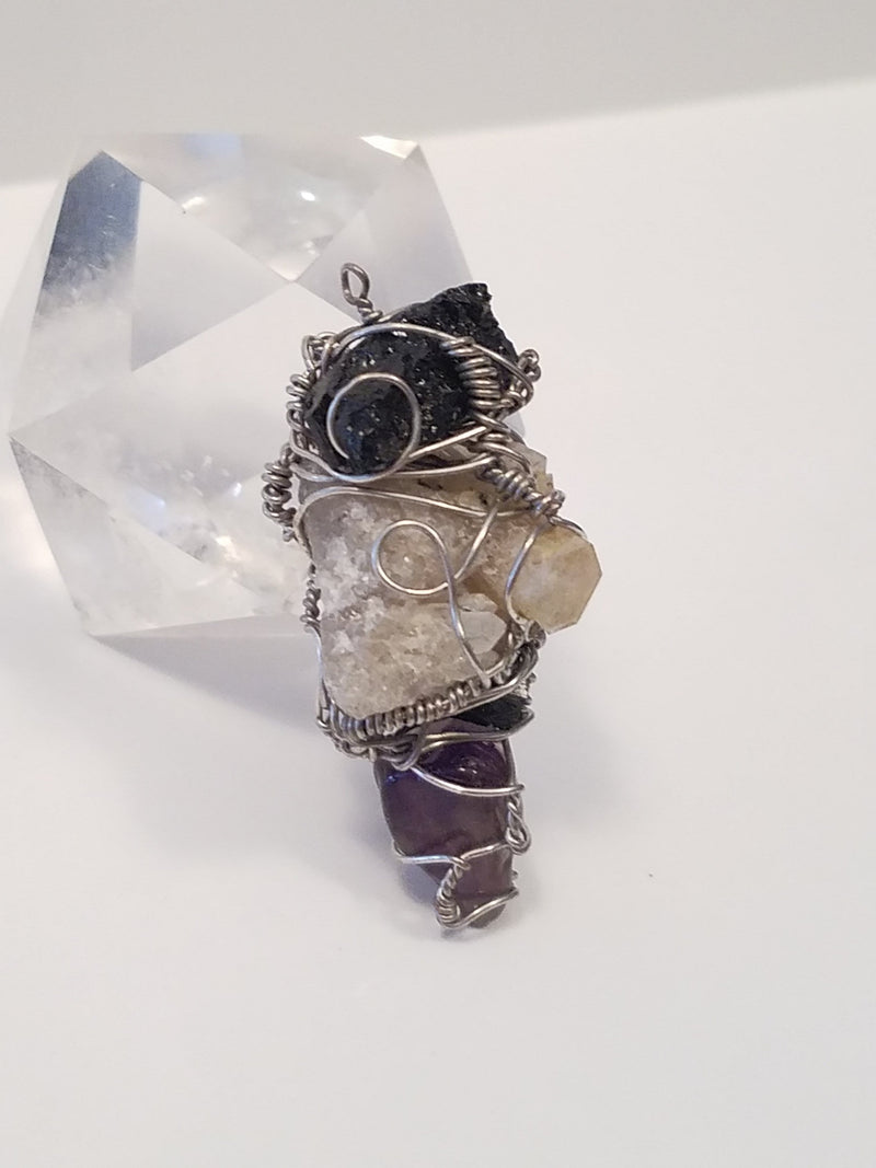 Innovated Visions Jewelry Pendant HEALING WIRE WRAPPED PENDANT #4