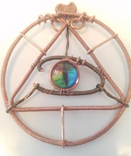Innovated Visions Jewelry Pendant THE ENLIGHTENED EYE SACRED GEOMETRY WIRE WRAPPED PENDANT