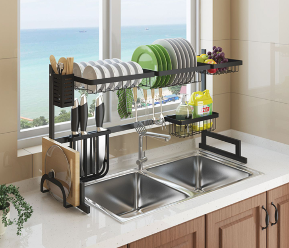 Expandable Stainless Steel Drain Rack
