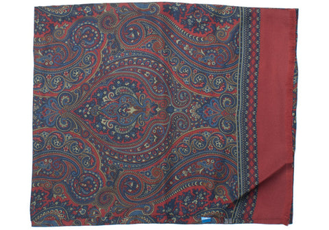 Silk Paisley Scarf - Red