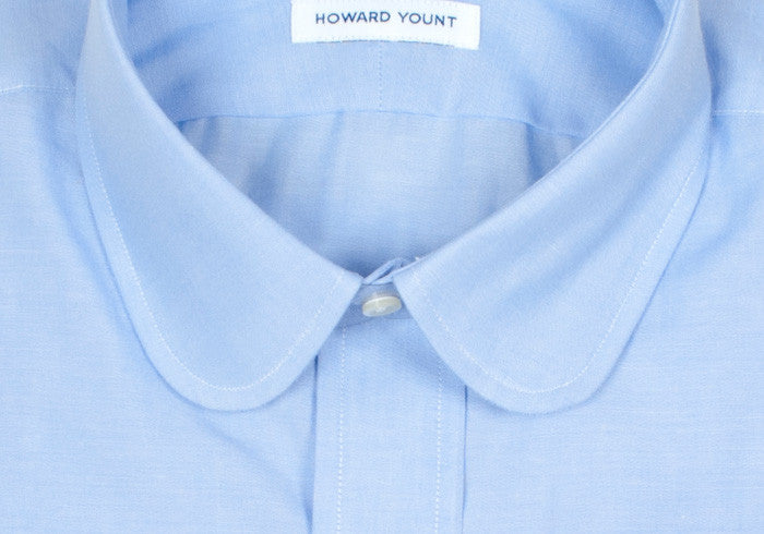 Chambray Club Collar - Blue