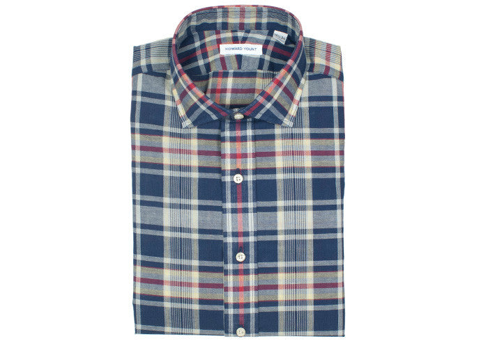 Madras Shirt - Blue, White, Red, Yellow