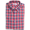 Flannel Plaid Shirt - Red, Gray, and White