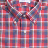 Flannel Plaid Shirt - Red, Gray, and White - S