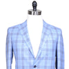 Loro Piana Wool, Linen, and Silk Plaid Jacket - Blue