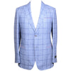 Linen Wool Windowpane Jacket - Blue