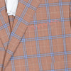 Super 130s Wool Plaid Jacket - Rust and Blue
