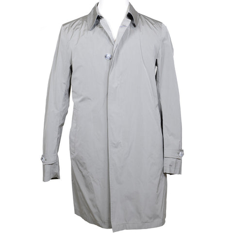 Single Breasted Tan Raincoat