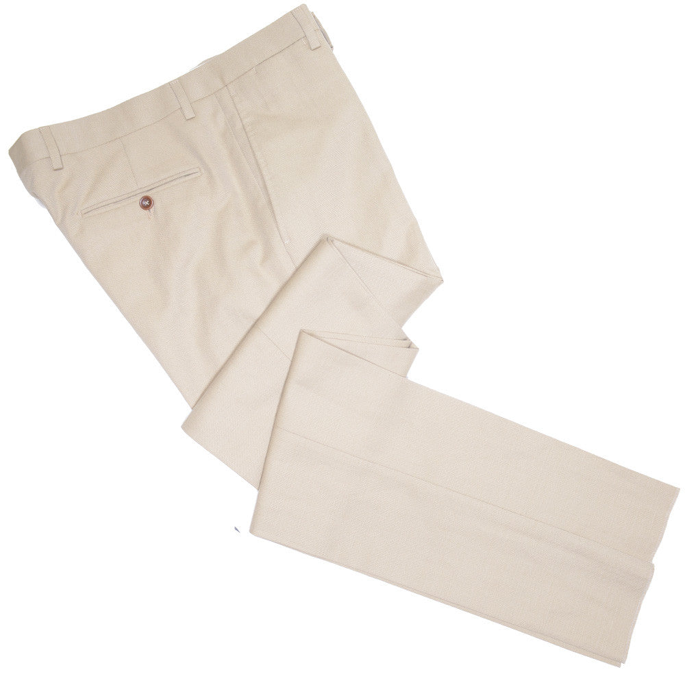 Cotton Canvas Pants - 36