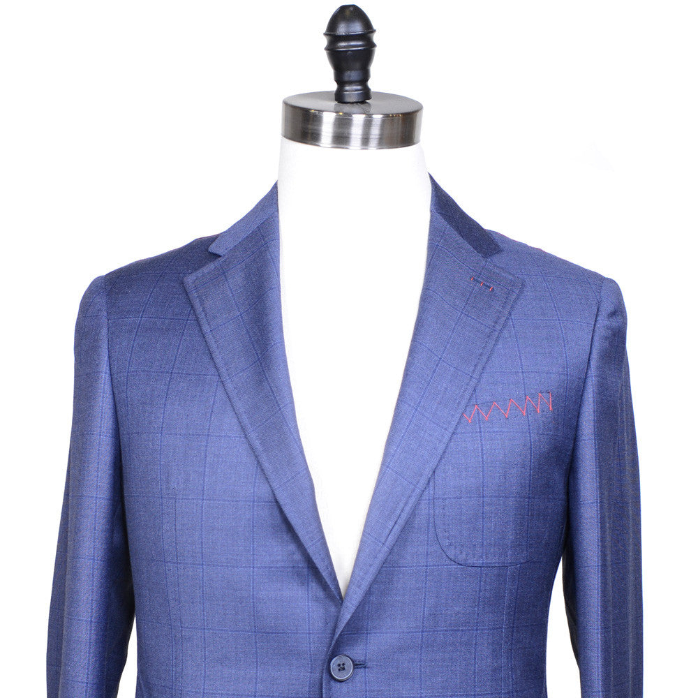 Windowpane Super 110s Suit - Blue