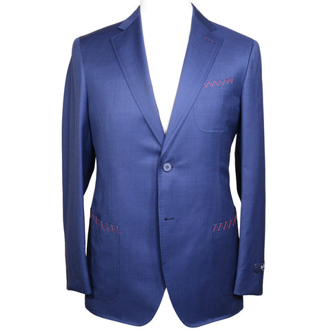 Four Season Super 130s Nailhead Suit - Navy