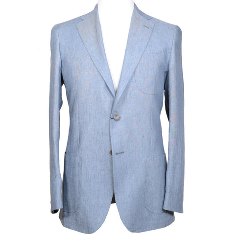 Gray Blue Linen Suit
