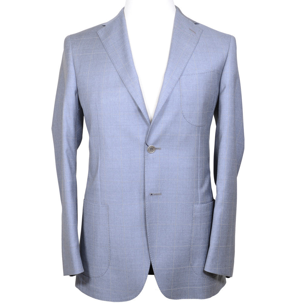 Gray and Cream Windowpane Suit