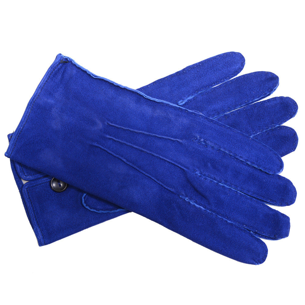 Capeskin Suede Gloves - Electric Blue