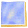 Silk Neat Circle Square Pocket Square - Blue and Yellow