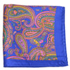 Silk India Paisley Pocket Square - Blue