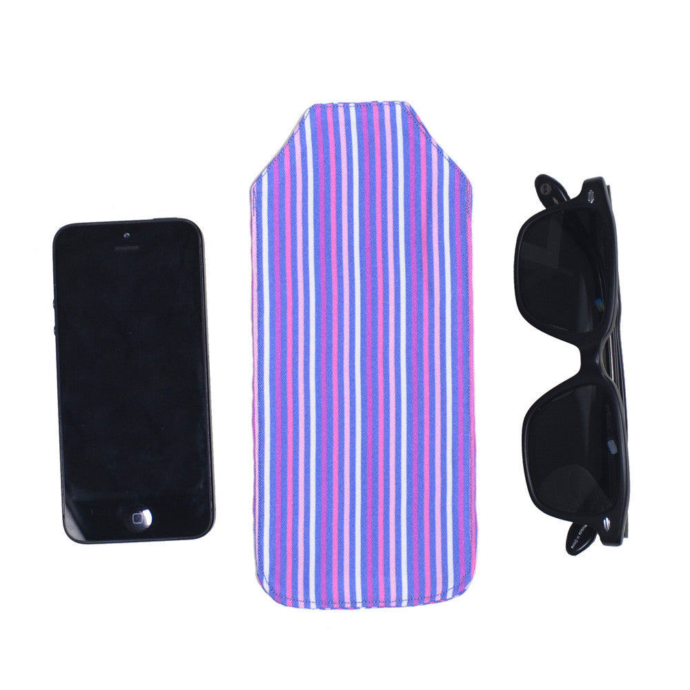 Silk Pocket Case - Stripe Pink