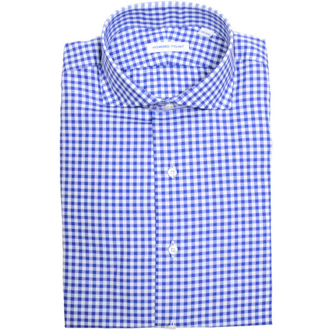 Blue Gingham Twill Shirt