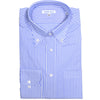 Cotton Poplin Medium Stripe Shirt - Blue