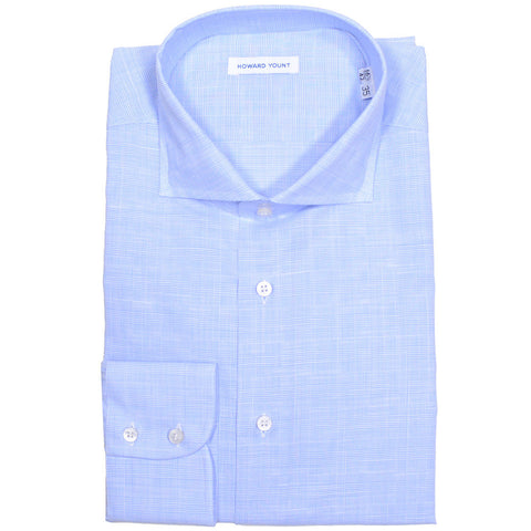 Blue Glenplaid Cotton Shirt