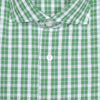Green Plaid Cotton Seersucker Shirt