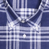 Navy Plaid Linen Shirt